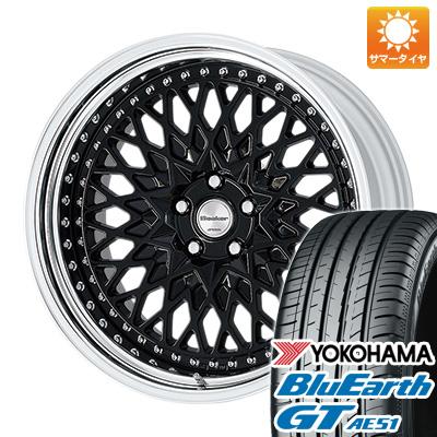 タイヤはフジ 送料無料 WORK ワーク グランシーカー CCX 8.5J 8.50-19 YOKOHAMA ブルーアース GT AE51 245/45R19 19インチ サマータイヤ ホイール4本セット