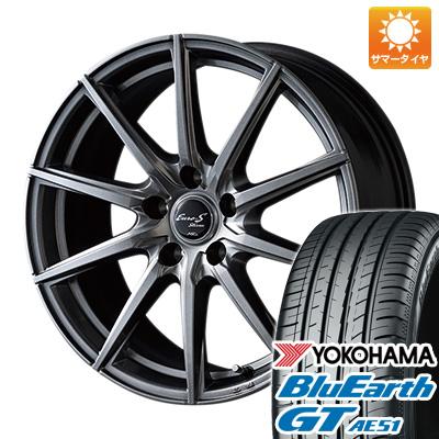 タイヤはフジ 送料無料 MID ユーロストリーム JL10 6J 6.00-15 YOKOHAMA ブルーアース GT AE51 195/65R15 15インチ サマータイヤ ホイール4本セット