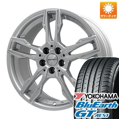 タイヤはフジ 送料無料 ボルボ(V40クロスカントリー) EUROTECH ユーロテック ガヤ エリージ(シルバー) 6.5J 6.50-16 YOKOHAMA ブルーアース GT AE51 205/60R16 16インチ サマータイヤ ホイール4本セット 輸入車