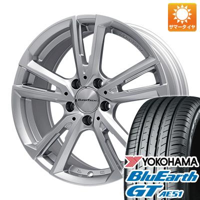 タイヤはフジ 送料無料 ボルボ(V40クロスカントリー) EUROTECH ユーロテック ガヤ ソリ(シルバー) 6.5J 6.50-16 YOKOHAMA ブルーアース GT AE51 205/60R16 16インチ サマータイヤ ホイール4本セット 輸入車
