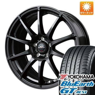 タイヤはフジ 送料無料 MID シュナイダー スタッグ 8J 8.00-18 YOKOHAMA ブルーアース GT AE51 235/50R18 18インチ サマータイヤ ホイール4本セット