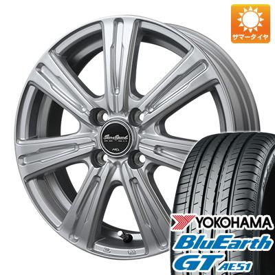 タイヤはフジ 送料無料 MID ユーロスピード C-07 5.5J 5.50-15 YOKOHAMA ブルーアース GT AE51 185/55R15 15インチ サマータイヤ ホイール4本セット