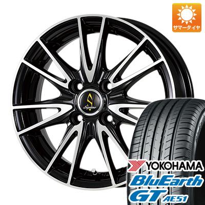 タイヤはフジ 送料無料 WORK ワーク セプティモ G02 ブラックポリッシュ 5.5J 5.50-15 YOKOHAMA ブルーアース GT AE51 175/65R15 15インチ サマータイヤ ホイール4本セット