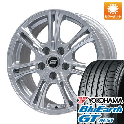 タイヤはフジ 送料無料 BRANDLE ブランドル M68 6J 6.00-15 YOKOHAMA ブルーアース GT AE51 185/60R15 15インチ サマータイヤ ホイール4本セット