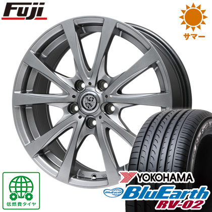タイヤはフジ 送料無料 BIGWAY ビッグウエイ TRG バーン 6.5J 6.50-16 YOKOHAMA ブルーアース RV-02 205/60R16 16インチ サマータイヤ ホイール4本セット