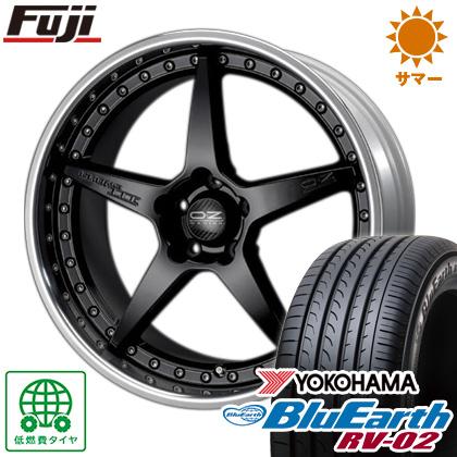 タイヤはフジ 送料無料 OZ クロノ3 8.5J 8.50-20 YOKOHAMA ブルーアース RV-02 245/40R20 20インチ サマータイヤ ホイール4本セット