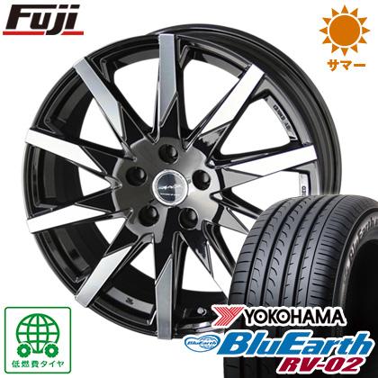 タイヤはフジ 送料無料 KYOHO 共豊 スマック スフィーダ 6.5J 6.50-16 YOKOHAMA ブルーアース RV-02 205/60R16 16インチ サマータイヤ ホイール4本セット