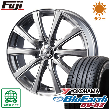 タイヤはフジ 送料無料 INTER MILANO インターミラノ AZ-SPORTS YL-10 6.5J 6.50-16 YOKOHAMA ブルーアース RV-02 215/65R16 16インチ サマータイヤ ホイール4本セット