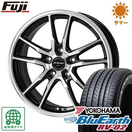 タイヤはフジ 送料無料 MONZA モンツァ JPスタイルクレーヴァ 6.5J 6.50-16 YOKOHAMA ブルーアース RV-02 195/60R16 16インチ サマータイヤ ホイール4本セット