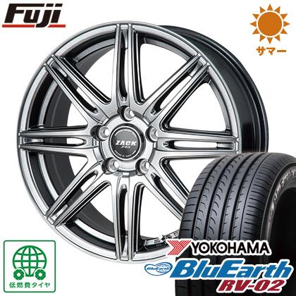タイヤはフジ 送料無料 MONZA モンツァ ZACK JP-818 7J 7.00-17 YOKOHAMA ブルーアース RV-02 225/60R17 17インチ サマータイヤ ホイール4本セット