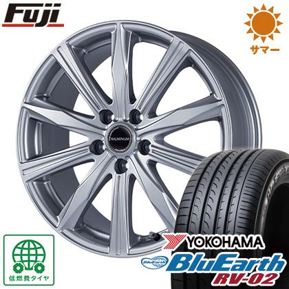 タイヤはフジ 送料無料 BRIDGESTONE ブリヂストン バルミナ KR10 6.5J 6.50-16 YOKOHAMA ブルーアース RV-02 205/60R16 16インチ サマータイヤ ホイール4本セット