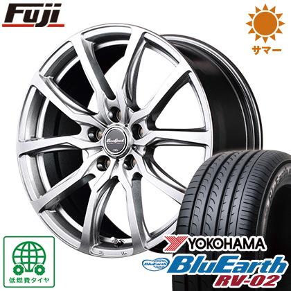 タイヤはフジ 送料無料 MID ユーロスピード G52 6J 6.00-15 YOKOHAMA ブルーアース RV-02 205/65R15 15インチ サマータイヤ ホイール4本セット