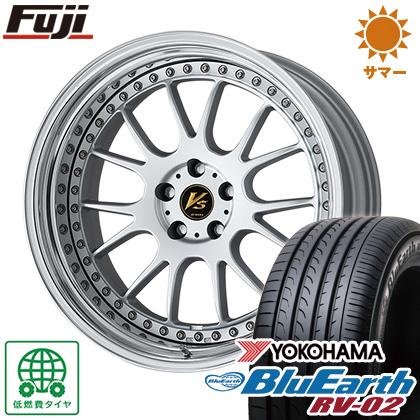 タイヤはフジ 送料無料 WORK ワーク VS VS-TX 8.5J 8.50-19 YOKOHAMA ブルーアース RV-02 245/40R19 19インチ サマータイヤ ホイール4本セット