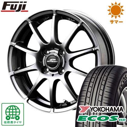 タイヤはフジ 送料無料 MID シュナイダー スタッグ 4J 4.00-13 155/70R13 13インチ YOKOHAMA エコス ES31 サマータイヤ ホイール4本セット
