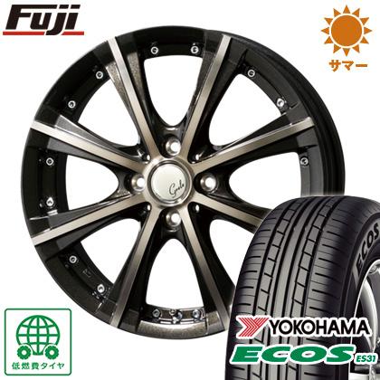 タイヤはフジ 送料無料 TOPY トピー グレール キョクシ 4.5J 4.50-14 YOKOHAMA エコス ES31 155/65R14 14インチ サマータイヤ ホイール4本セット
