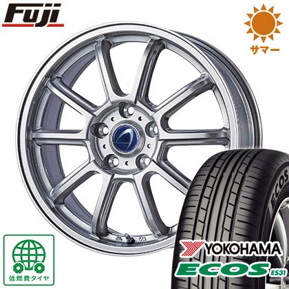 タイヤはフジ 送料無料 TECHNOPIA テクノピア アルテミス LSW 限定 7.5J 7.50-18 YOKOHAMA エコス ES31 225/45R18 18インチ サマータイヤ ホイール4本セット