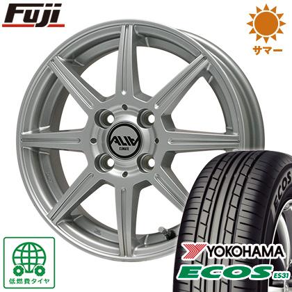 タイヤはフジ 送料無料 CLIMATE クライメイト アリア 4J 4.00-13 155/70R13 13インチ YOKOHAMA エコス ES31 サマータイヤ ホイール4本セット