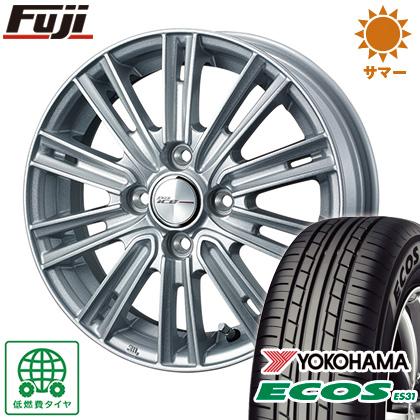 タイヤはフジ 送料無料 WEDS ウェッズ ジョーカー アイス 4J 4.00-13 155/70R13 13インチ YOKOHAMA エコス ES31 サマータイヤ ホイール4本セット