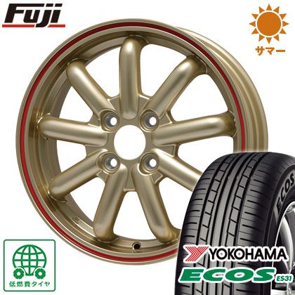 タイヤはフジ 送料無料 ソリオ(MA36S) BRANDLE-LINE ストレンジャーKST-9 (ゴールド/レッドライン) 4.5J 4.50-15 YOKOHAMA エコス ES31 165/65R15 15インチ サマータイヤ ホイール4本セット