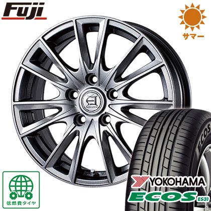 タイヤはフジ 送料無料 TECHNOPIA テクノピア アフロディーテ EF 7J 7.00-17 YOKOHAMA エコス ES31 215/55R17 17インチ サマータイヤ ホイール4本セット