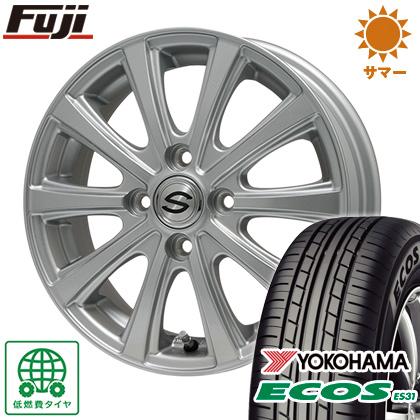 タイヤはフジ 送料無料 BRANDLE ブランドル ZN-10 4J 4.00-13 155/65R13 13インチ YOKOHAMA エコス ES31 サマータイヤ ホイール4本セット