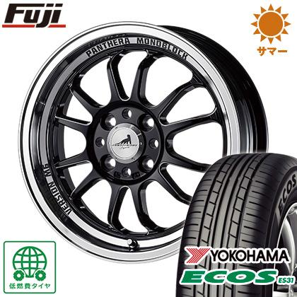 タイヤはフジ 送料無料 5ZIGEN ゴジゲン パンテーラ バージョンM6 5J 5.00-15 YOKOHAMA エコス ES31 165/50R15 15インチ サマータイヤ ホイール4本セット