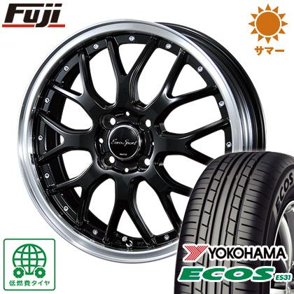 タイヤはフジ 送料無料 BLEST ブレスト ユーロスポーツ タイプ815 4.5J 4.50-14 YOKOHAMA エコス ES31 155/65R14 14インチ サマータイヤ ホイール4本セット