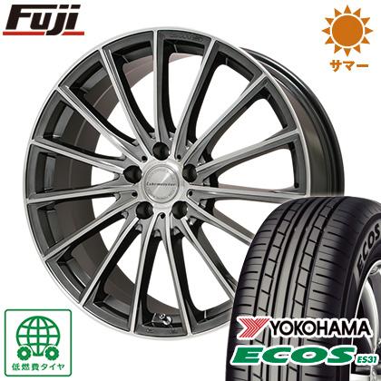 タイヤはフジ 送料無料 LEHRMEISTER LM-S FS15 (ガンメタポリッシュ) 6.5J 6.50-16 YOKOHAMA エコス ES31 185/55R16 16インチ サマータイヤ ホイール4本セット