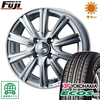 タイヤはフジ 送料無料 WEDS ウェッズ ジョーカー ステア 4J 4.00-13 155/70R13 13インチ YOKOHAMA エコス ES31 サマータイヤ ホイール4本セット