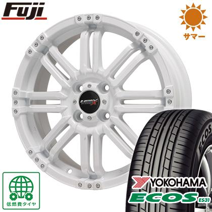 タイヤはフジ 送料無料 BIGWAY ビッグウエイ B-MUD X(ホワイト) 4.5J 4.50-14 YOKOHAMA エコス ES31 165/55R14 14インチ サマータイヤ ホイール4本セット