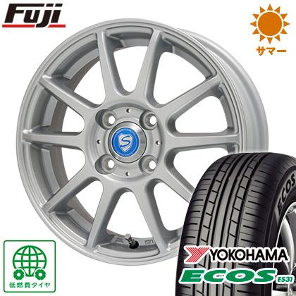 タイヤはフジ 送料無料 BRANDLE ブランドル 302 4J 4.00-13 YOKOHAMA エコス ES31 155/65R13 13インチ サマータイヤ ホイール4本セット