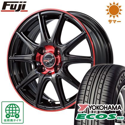 タイヤはフジ 送料無料 MID ファイナルスピード GR-ボルト 5.5J 5.50-15 YOKOHAMA エコス ES31 185/65R15 15インチ サマータイヤ ホイール4本セット