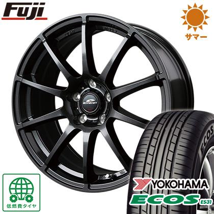 タイヤはフジ 送料無料 MID シュナイダー スタッグ 6.5J 6.50-16 YOKOHAMA エコス ES31 195/55R16 16インチ サマータイヤ ホイール4本セット