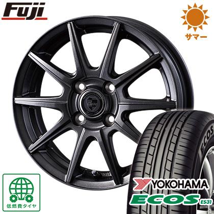 タイヤはフジ 送料無料 INTER MILANO インターミラノ クレール GS10J 4J 4.00-13 YOKOHAMA エコス ES31 155/65R13 13インチ サマータイヤ ホイール4本セット