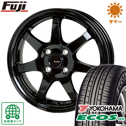 タイヤはフジ 送料無料 HOT STUFF ホットスタッフ ジースピード G-03 6J 6.00-16 YOKOHAMA エコス ES31 185/55R16 16インチ サマータイヤ ホイール4本セット