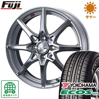タイヤはフジ 送料無料 WEDS ウェッズ レオニス SV 5.5J 5.50-15 YOKOHAMA エコス ES31 175/65R15 15インチ サマータイヤ ホイール4本セット