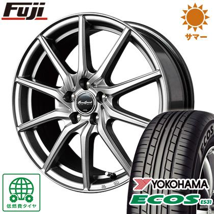 タイヤはフジ 送料無料 MID ユーロスピード G810 6.5J 6.50-16 YOKOHAMA エコス ES31 215/60R16 16インチ サマータイヤ ホイール4本セット