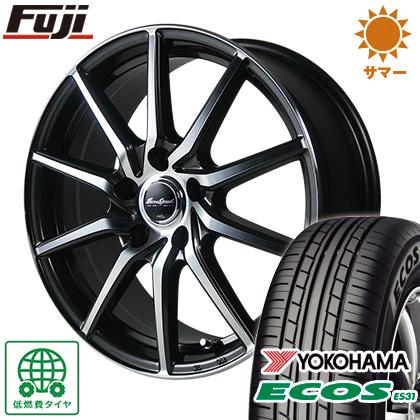 タイヤはフジ 送料無料 MID ユーロスピード S810 6J 6.00-15 YOKOHAMA エコス ES31 195/65R15 15インチ サマータイヤ ホイール4本セット
