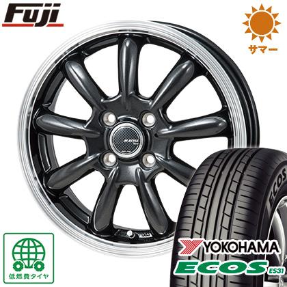 タイヤはフジ 送料無料 MONZA モンツァ JPスタイル バーニー 5.5J 5.50-15 YOKOHAMA エコス ES31 185/65R15 15インチ サマータイヤ ホイール4本セット