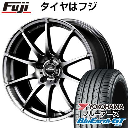 タイヤはフジ 送料無料 MID シュナイダー スタッグ 6J 6.00-15 YOKOHAMA ブルーアース GT AE51 195/65R15 15インチ サマータイヤ ホイール4本セット