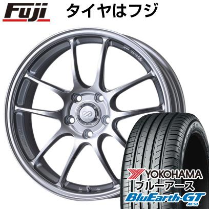 タイヤはフジ 送料無料 ENKEI エンケイ PF01 7.5J 7.50-18 YOKOHAMA ブルーアース GT AE51 235/50R18 18インチ サマータイヤ ホイール4本セット