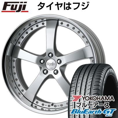 タイヤはフジ 送料無料 WORK ワーク エクイップ E05 8J 8.00-19 YOKOHAMA ブルーアース GT AE51 245/45R19 19インチ サマータイヤ ホイール4本セット