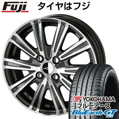 タイヤはフジ 送料無料 KYOHO 共豊 スマック スパロー 5.5J 5.50-15 YOKOHAMA ブルーアース GT AE51 185/55R15 15インチ サマータイヤ ホイール4本セット