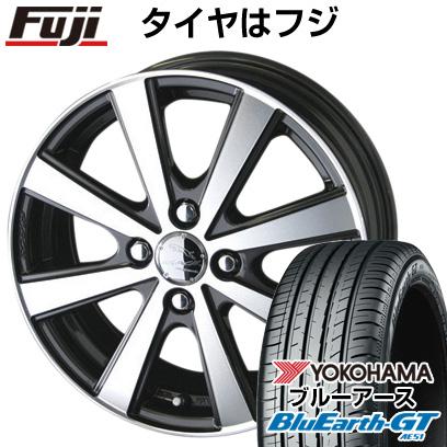 タイヤはフジ 送料無料 KYOHO 共豊 スマック VI-R 5.5J 5.50-15 YOKOHAMA ブルーアース GT AE51 185/55R15 15インチ サマータイヤ ホイール4本セット