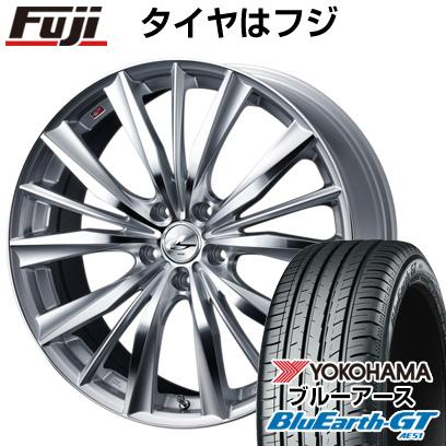 タイヤはフジ 送料無料 WEDS ウェッズ レオニス VX 8J 8.00-18 YOKOHAMA ブルーアース GT AE51 235/50R18 18インチ サマータイヤ ホイール4本セット