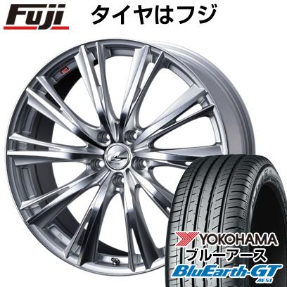 タイヤはフジ 送料無料 WEDS ウェッズ レオニス WX 8J 8.00-19 YOKOHAMA ブルーアース GT AE51 225/40R19 19インチ サマータイヤ ホイール4本セット