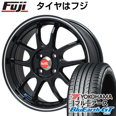LEHRMEISTER ホイール4本セット レアマイスター GT 185/60R15 YOKOHAMA タイヤはフジ ブルーアース LMスポーツ5MODEL(グロスブラック) サマータイヤ 6J AE51 送料無料 15インチ 6.00-15