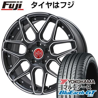 タイヤはフジ 送料無料 LEHRMEISTER レアマイスター ドレスデン ブラックエッジブラッシュド 限定 7.5J 7.50-18 YOKOHAMA ブルーアース GT AE51 215/40R18 18インチ サマータイヤ ホイール4本セット