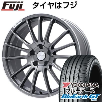 タイヤはフジ 送料無料 LEHRMEISTER LM-S トレント15 (マットグラファイト/リムポリッシュ) 7.5J 7.50-18 YOKOHAMA ブルーアース GT AE51 235/50R18 18インチ サマータイヤ ホイール4本セット
