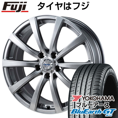 タイヤはフジ 送料無料 MONZA モンツァ ZACK JP-110 10スポーク 7J 7.00-17 YOKOHAMA ブルーアース GT AE51 225/50R17 17インチ サマータイヤ ホイール4本セット
